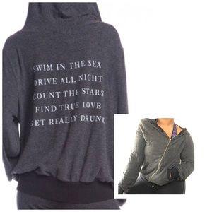 Wild fox runaway Malibu zip up graphic hoodie